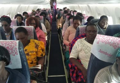 Mothers from Moiben, Uasin gishu treated to a first time flight by their children.