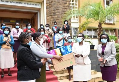 Uasin gishu first lady Lucy Mandago officiates distribution of over 10,000 sanitary towels.