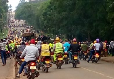 Uasin gishu Boda Boda riders protest gruesome murder of colleague.